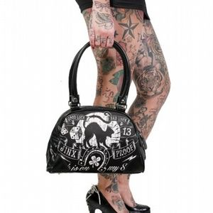 Liquorbrand Jinx Proof Bowler Bag Purse Gothic
